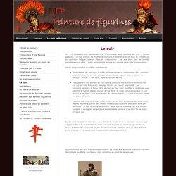 Le cuir - peinture de figurines - le site de jfp