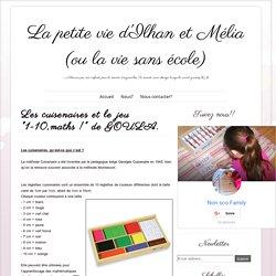 """Les cuisenaires et le jeu """"1-10,maths !"""" de GOULA. ~ La petite vie d'Ilhan et Mélia (ou la vie sans école)"""