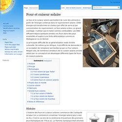 Four et cuiseur solaire — Solarpedia