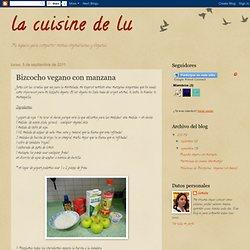 la cuisine de lu: Bizcocho vegano con manzana