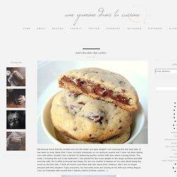 Une Gamine dans la Cuisine: Mint Chocolate Chip Cookies