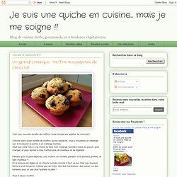 Un grand classique : muffins aux pépites de chocolat
