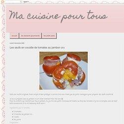 Oeufs en cocotte de tomates au jambon cru