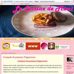 Compote de pommes Tupperware