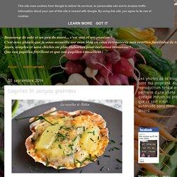 Ma cuisine au fil de mes idées...: Coquilles St Jacques gratinées