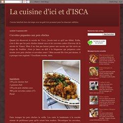 La cuisine d'ici et d'ISCA: Crevettes piquantes aux pois chiches
