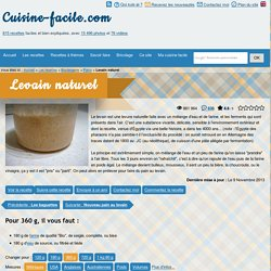 cuisine-facile.com - Levain naturel