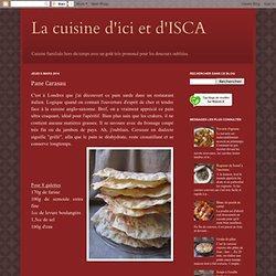 La cuisine d'ici et d'ISCA: Pane Carasau