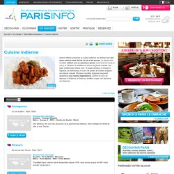 Cuisine indienne Paris