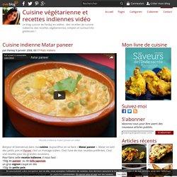 Cuisine indienne Matar paneer