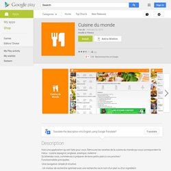 Cuisine du monde – Applications Android sur Google Play