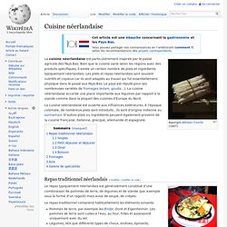 Cuisine néerlandaise