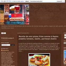 Recette de mini pizzas frites comme à Naples pizzetta tomates, basilic, parmesan (Italie)