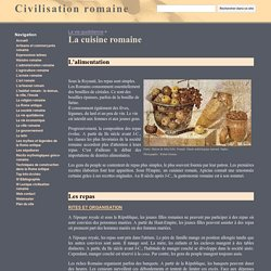 La cuisine romaine - Civilisation romaine