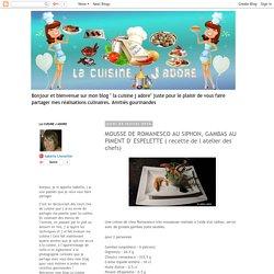 MOUSSE DE ROMANESCO AU SIPHON, GAMBAS AU PIMENT D' ESPELETTE ( recette de l atelier des chefs)