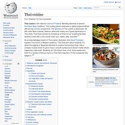 Thai cuisine