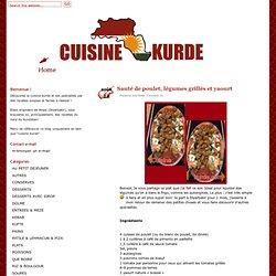Sauté de poulet, légumes grillés et yaourt − Cuisinekurde.com