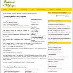 Cuisses de poulet aux aubergines, recette personnelle, Recettes de cuisine d'Afrique