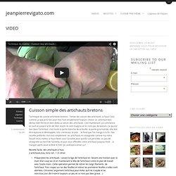 Cuisson des artichauts tout simplement par le chef JP Vigatojeanpierrevigato.com