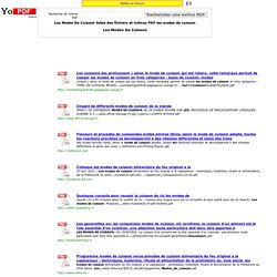 Les Modes De Cuisson listes des fichiers PDF les modes de cuisson