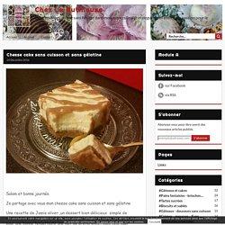 Cheese cake sans cuisson et sans gélatine - Chez La Butineuse