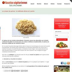 La cuisson du quinoa - La méthode ultime