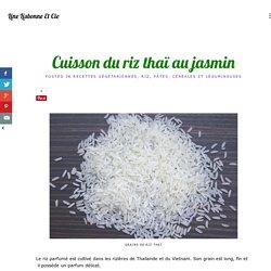 Cuisson du riz thaï au jasmin
