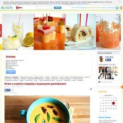Krem z cukinii z bazylią i suszonymi pomidorami - - Tasty Blog - bloog.pl