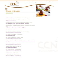 Ecoles culinaires - CCN : Chef Culinary Network