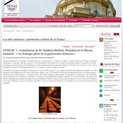 Les arts culinaires : patrimoine culturel de la France