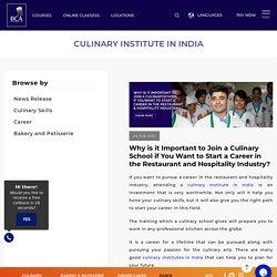 Culinary Institute in India