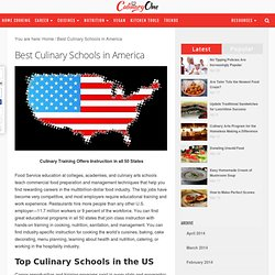 Best Culinary Schools in America - Top Cooking Schools