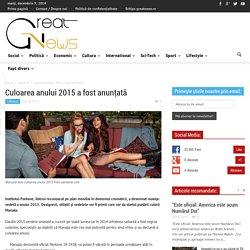 Culoarea anului 2015 a fost anunţată - Great News