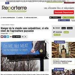 Manger de la viande sans culpabiliser, si elle vient de l'agriculture paysanne