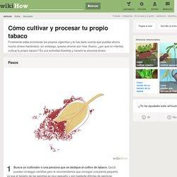 Cómo cultivar y procesar tu propio tabaco: 10 pasos