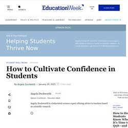 How to Cultivate Confidence in Students (Opinion)