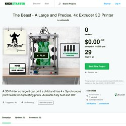 The Beast - A Large and Precise, 4x Extruder 3D Printer by cultivate3d