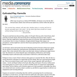 Cultivated Play: Farmville | MediaCommons