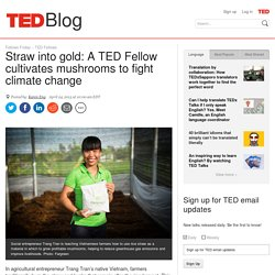 Straw into gold: A TED Fellow cultivates mushrooms to reduce emissions