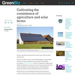 Cultivating the coexistence of agriculture and solar farms