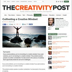 Cultivating a Creative Mindset