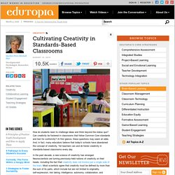 Cultivating Creativity in Standards-Based Classrooms