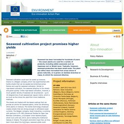 Seaweed cultivation project promises higher yields - Eco-innovation Action Plan