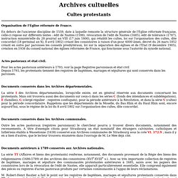 Archives cultuelles protestantes