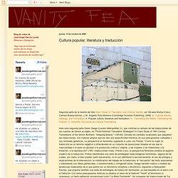 Vanity Fea: Cultura popular, literatura y traducción