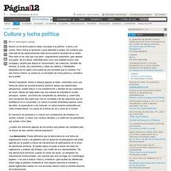 Cultura y lucha política