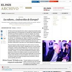 La cultura... ¿salvavidas de Europa? · ELPAÍS.com