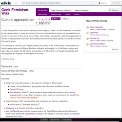 Cultural appropriation - Geek Feminism Wiki - Wikia