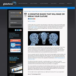 8 Cultural Cognitive Biases