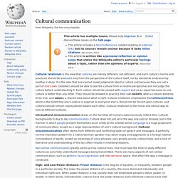 Cultural communication